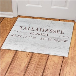 Personalized Coordinate Doormats | Rustic Coordinates Door Mat