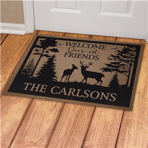 Personalized Welcome Deerest Friends Doormat