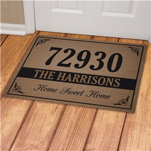 Personalized House Number and Family Name Doormat