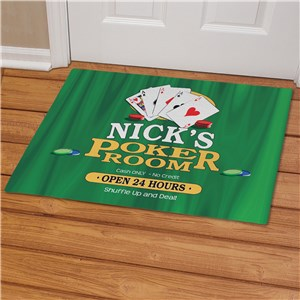 Poker Room Personalized Doormat | Mancave Gifts