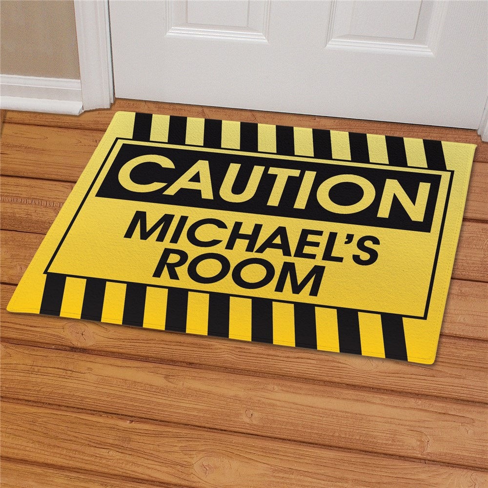 Caution Personalized Doormat | Personalized Doormats