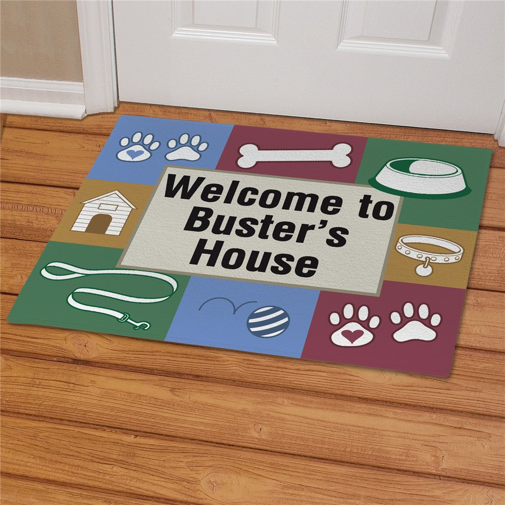 Doggy's House Personalized Pet Doormat | Personalized Doormats