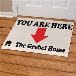 You Are Here Personalized Doormat | Personalized Doormats