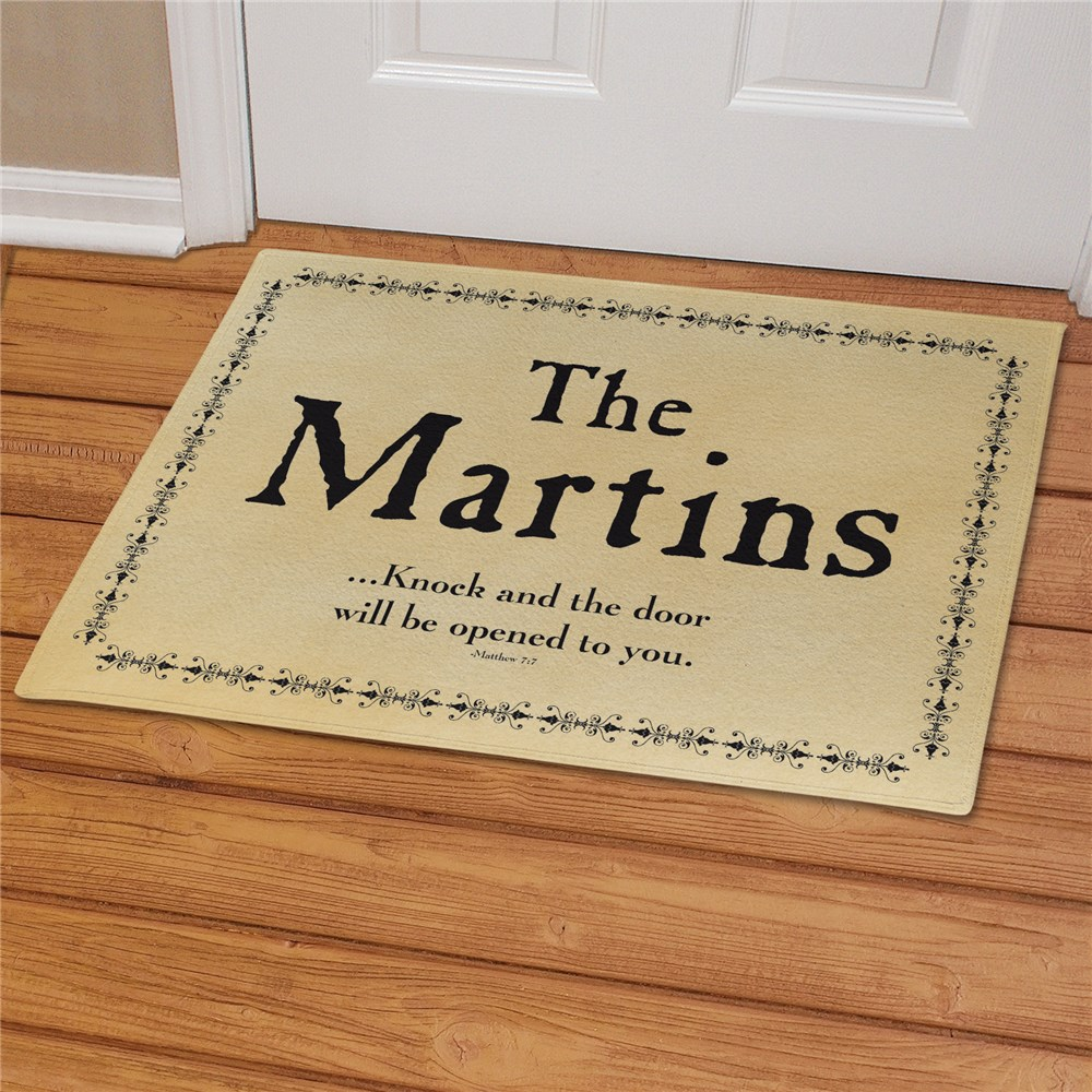 Knock... Personalized Doormat | Personalized Doormats
