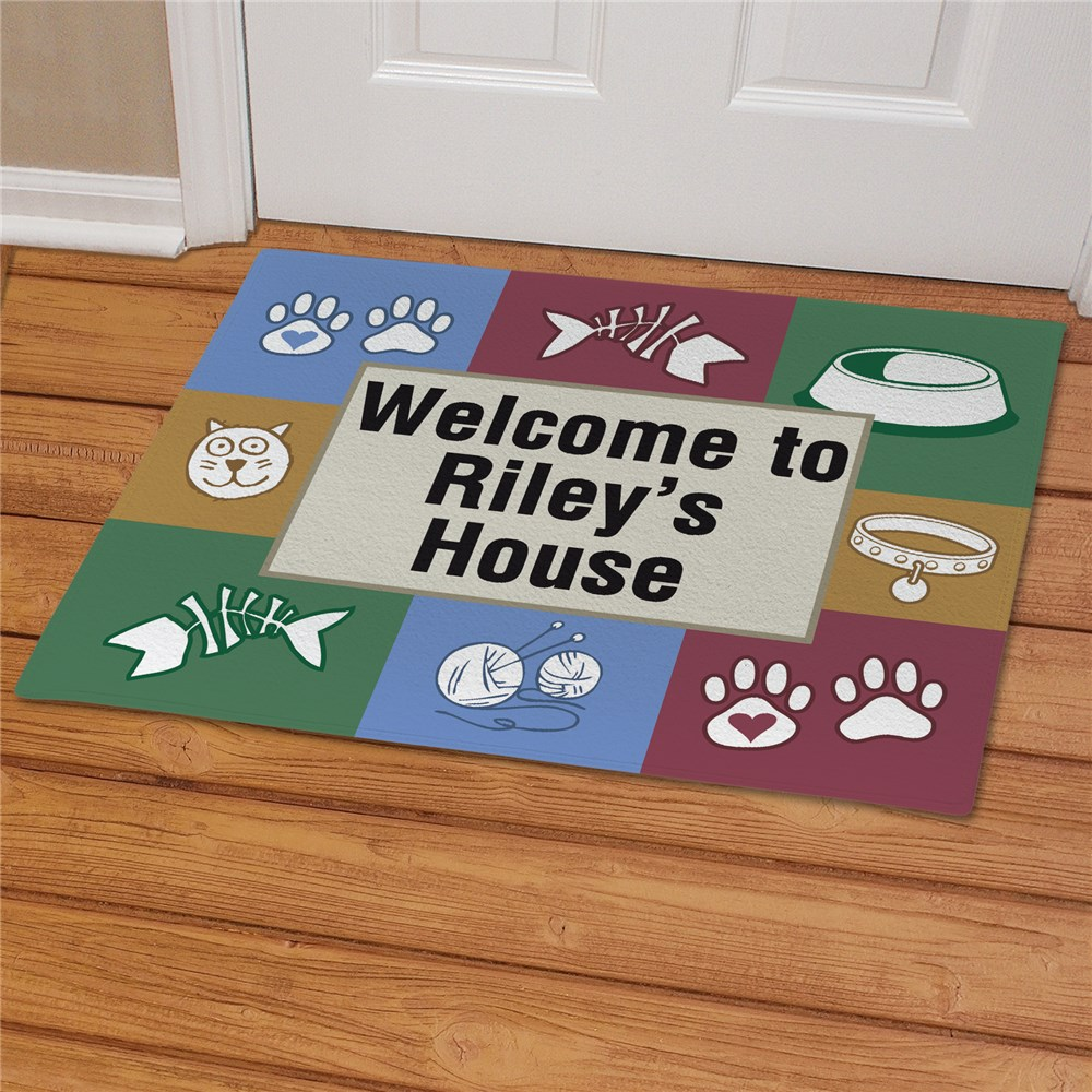 Kitty's House Personalized Pet Doormat | Personalized Doormats