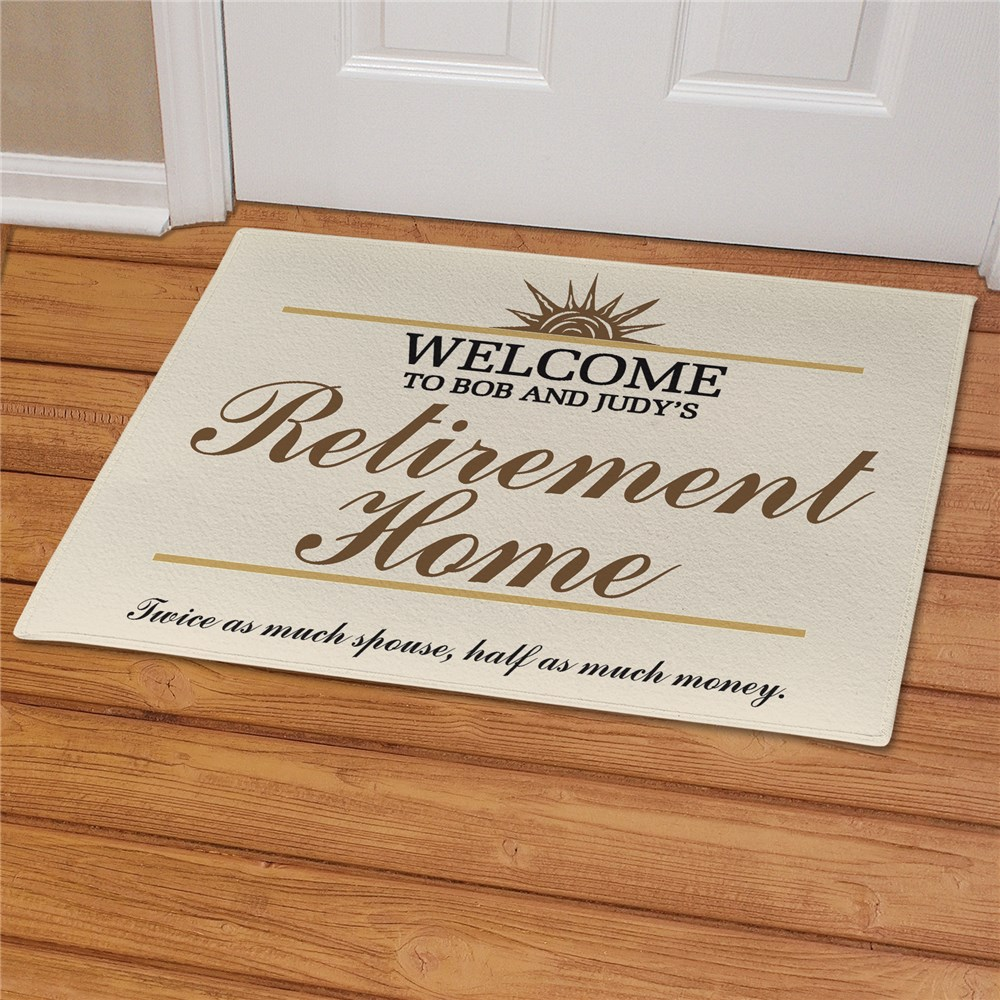 Retirement Home Personalized Doormat | Personalized Doormats