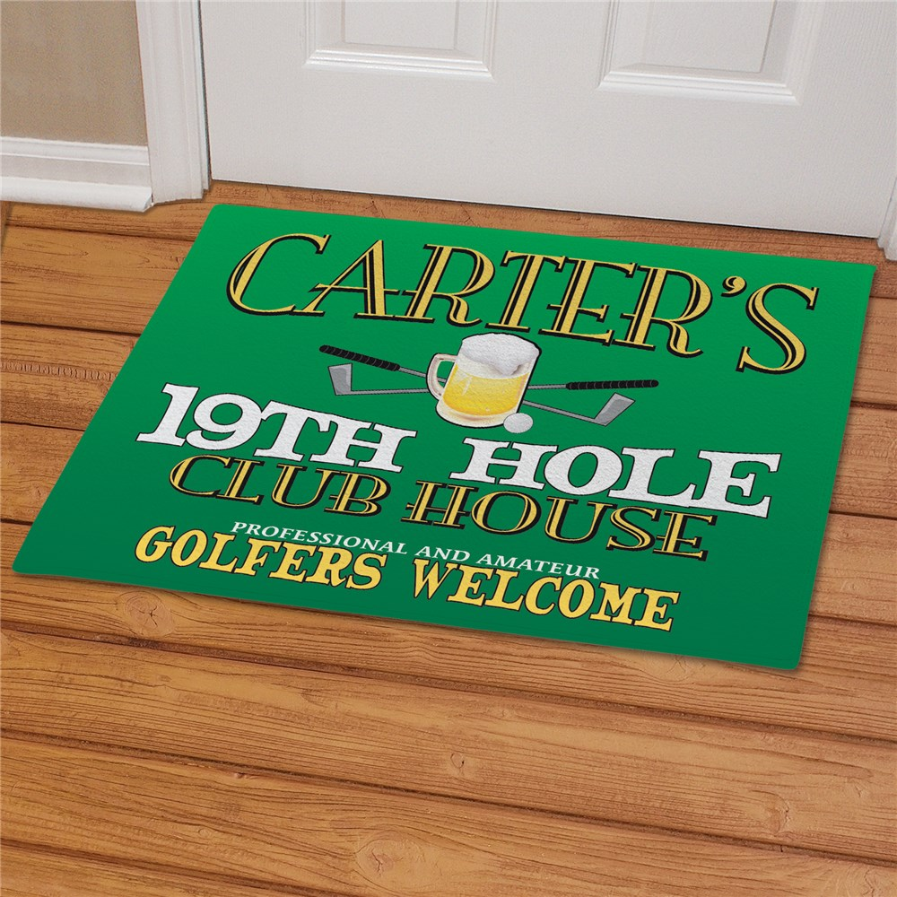 19th Hole Personalized Golf Doormat | Personalized Doormats
