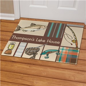 Fisherman Frenzy Welcome Doormat | Personalized Doormats