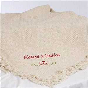 Personalized Wedding Afghan | Personalized Afghan