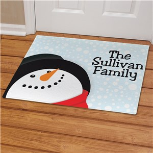 Let It Snow Personalized Welcome Doormat | Personalized Christmas Doormats
