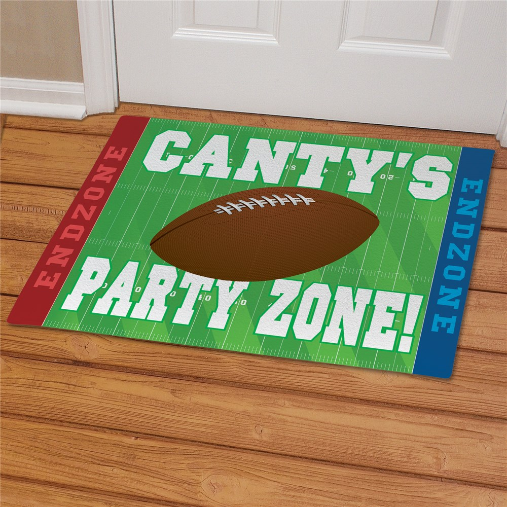Football Party Zone Personalized Doormat | Personalized Doormats