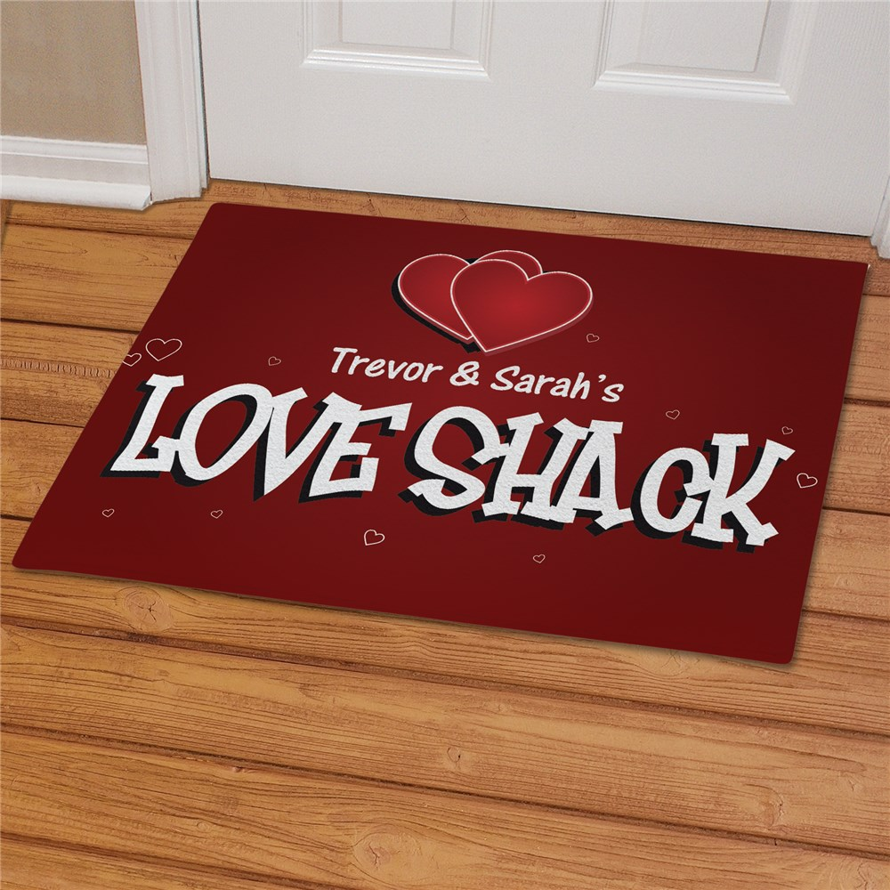 Love Shack Personalized Doormat | Personalized Doormats
