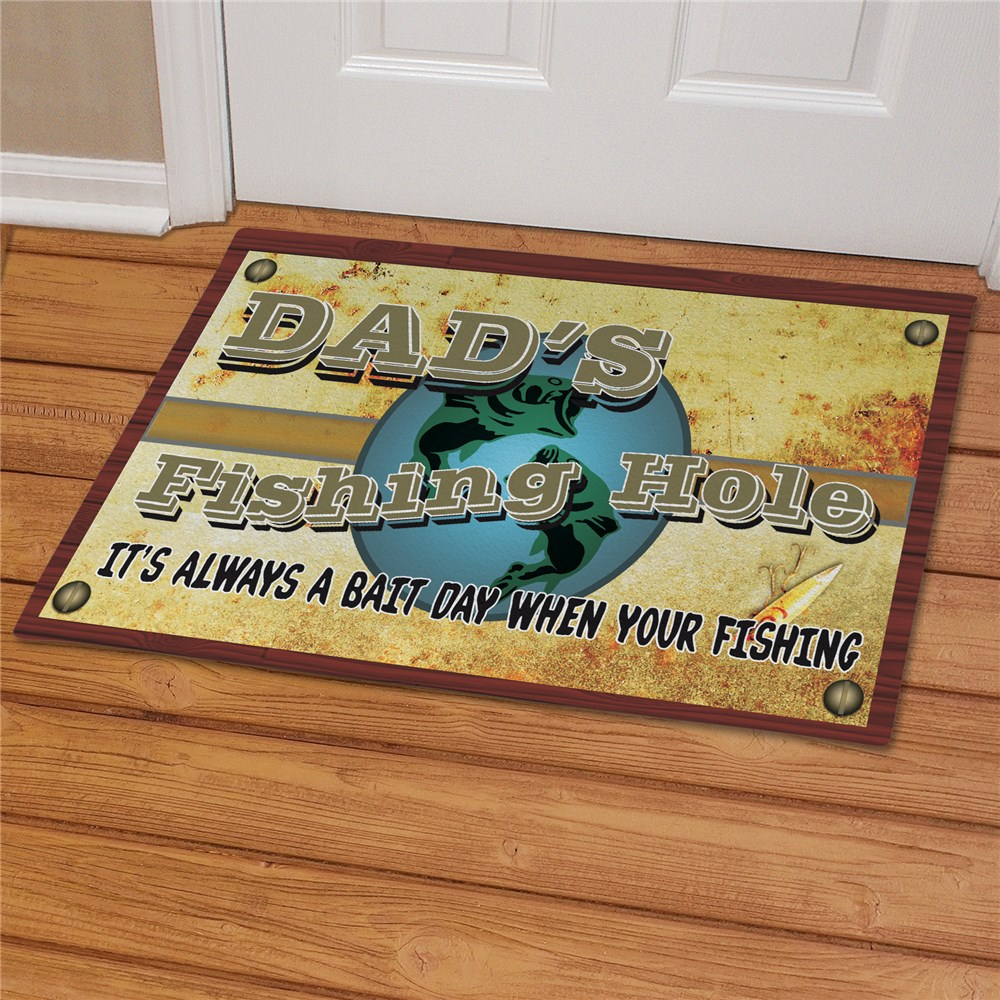 Fishing Hole Personalized Doormat | Personalized Doormats