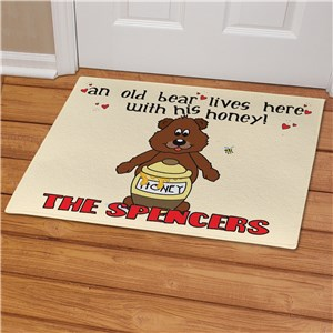 Old Bear and His Honey Personalized Doormat | Personalized Doormats