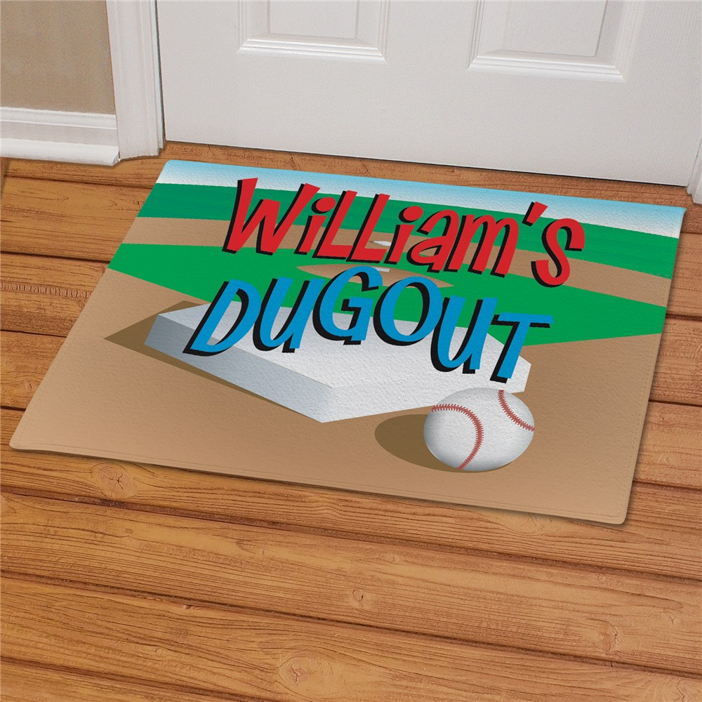 Dugout Baseball Doormat | Personalized Doormats