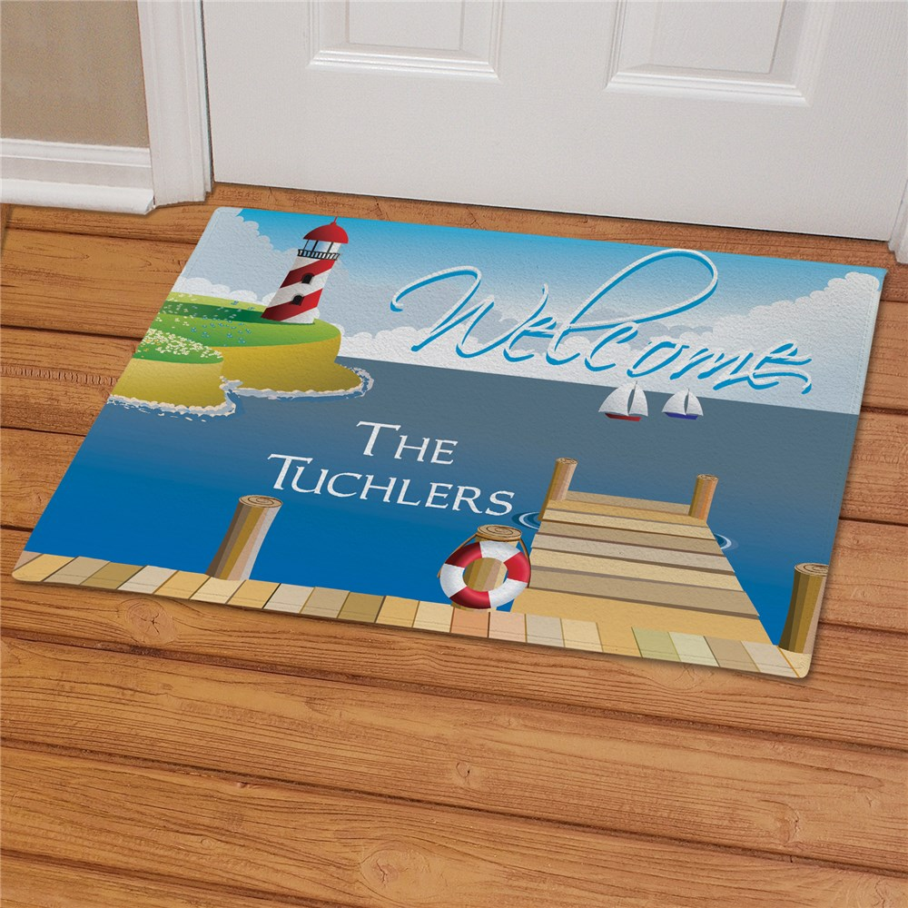 Lighthouse Personalized Doormat | Personalized Doormats