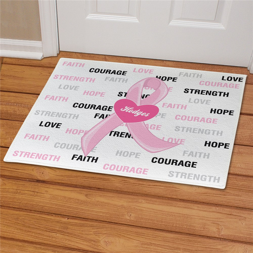 Hope and Love Breast Cancer Doormat 83136637