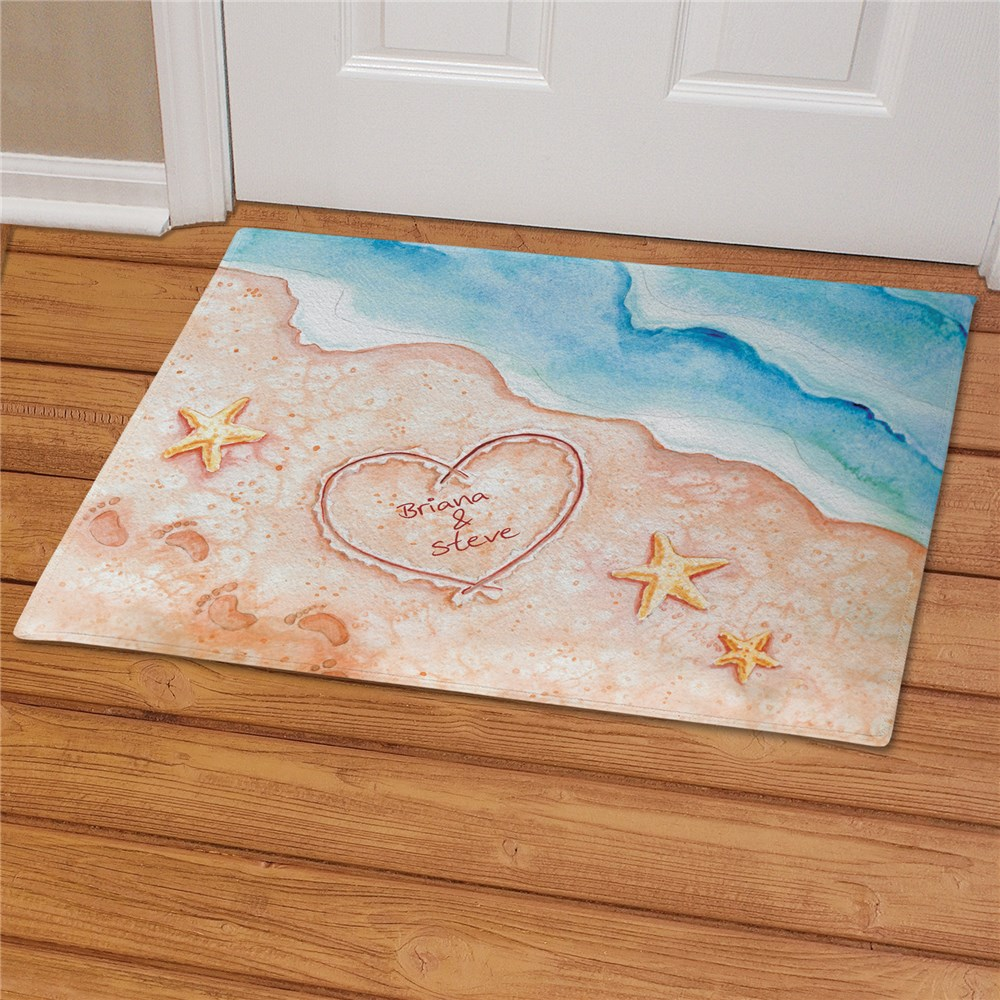 Shores of Love Personalized Doormat | Personalized Doormats