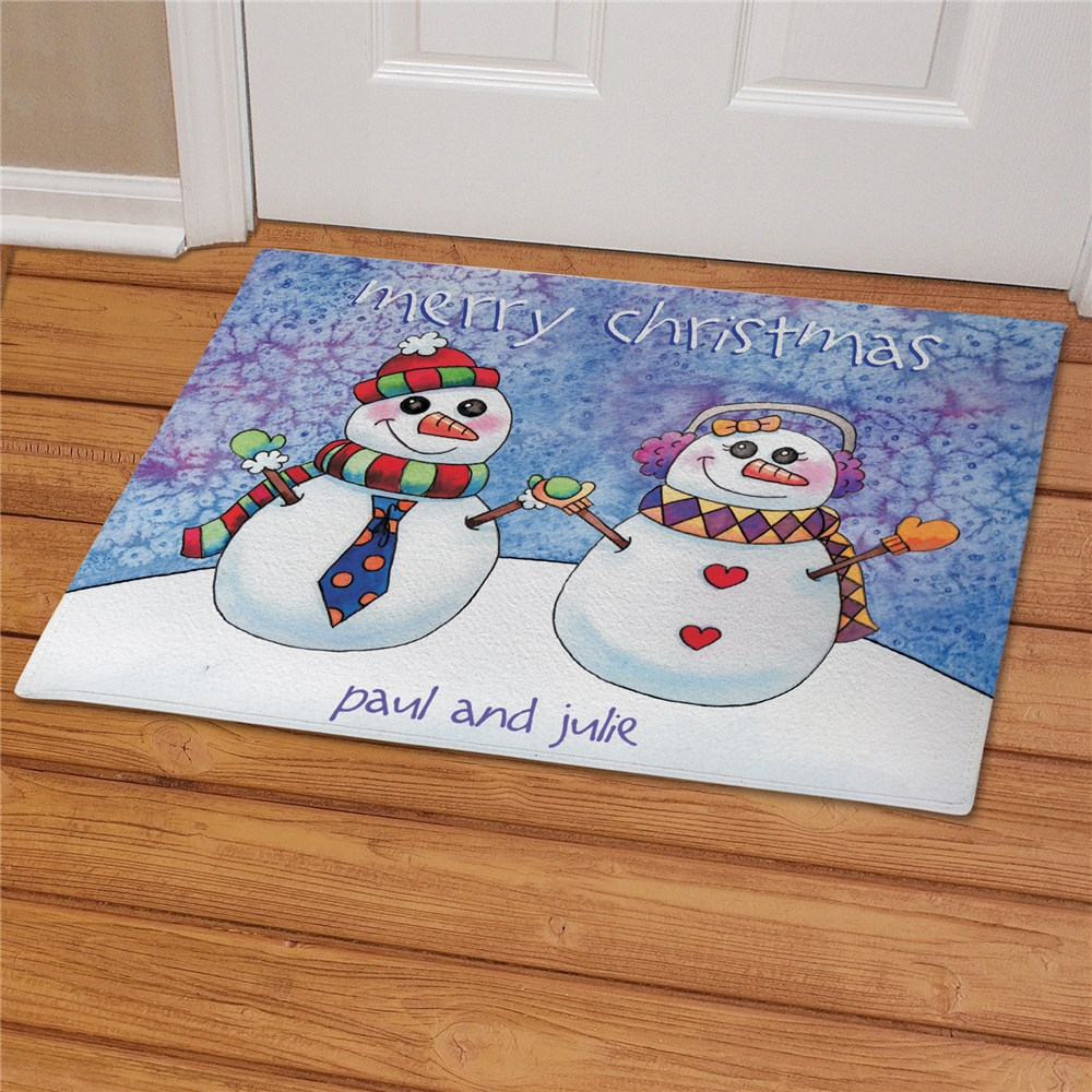 Personalized Snowman Family Doormat 83137727