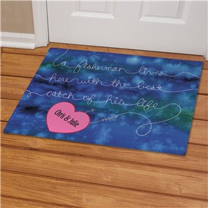 Personalized Best Catch Fisherman Doormat | Personalized Doormats