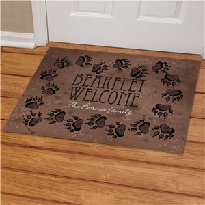 Personalized Bearfeet Welcome Doormat | Personalized Fishing Gifts