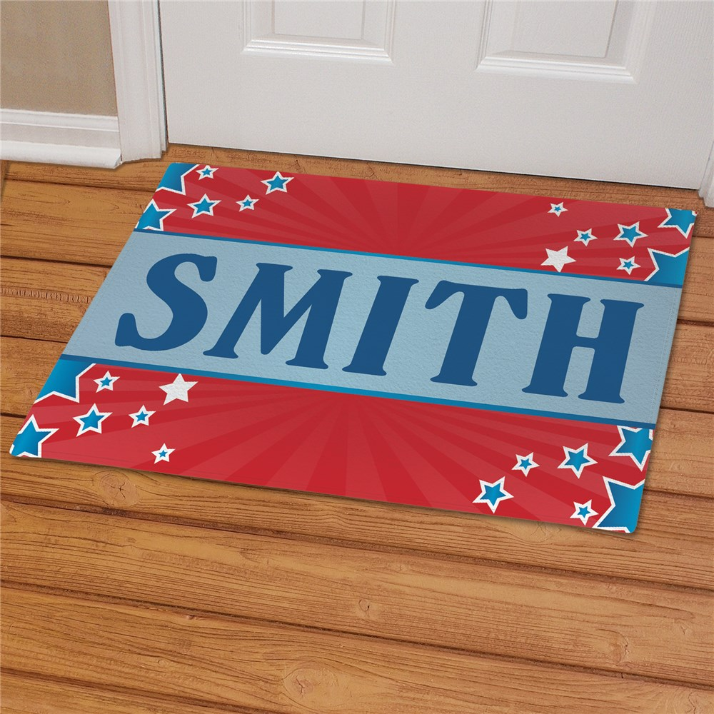Personalized July 4th Welcome Doormat | Personalized Doormats