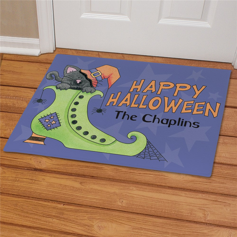 Personalized Happy Halloween Doormat 83145407