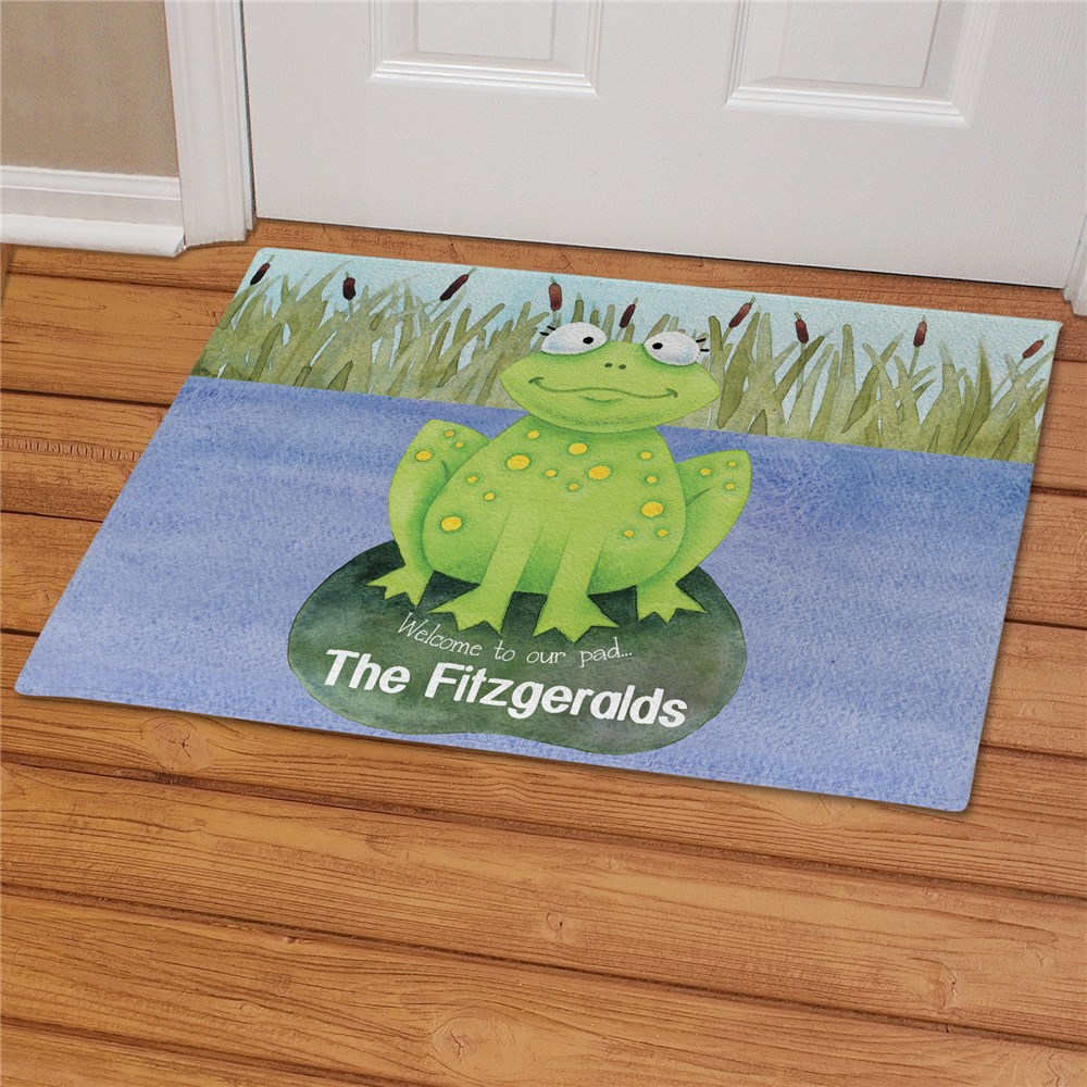 Personalized Welcome to Our Pad Doormat | Personalized Doormats
