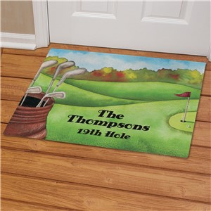 Personalized Golf Welcome Doormat | Personalized Doormats