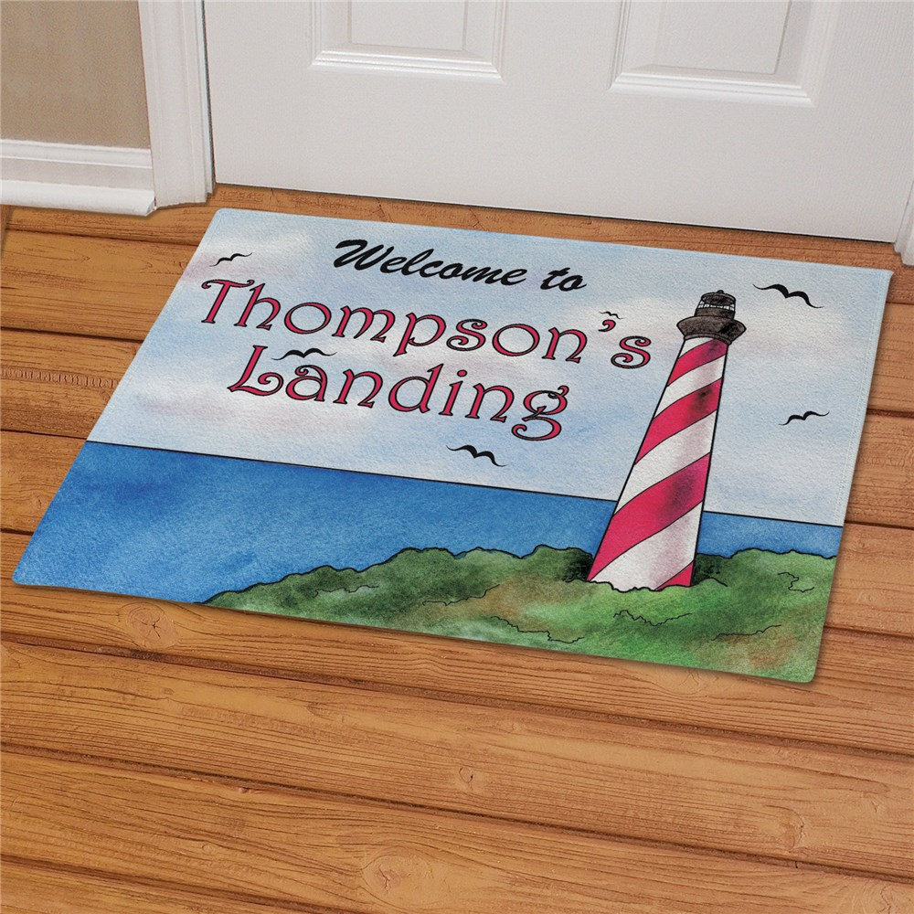 Personalized Lighthouse Doormat | Personalized Doormats