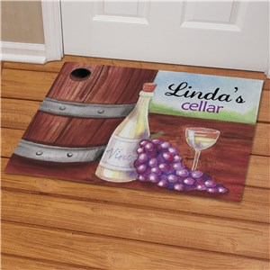 Personalized My Wine Cellar Doormat | Personalized Doormats