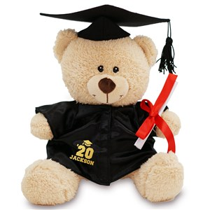 Personalized Cap & Gown Graduation Teddy
