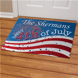 Personalized 4th of July Welcome Doormat | Personalized Doormats