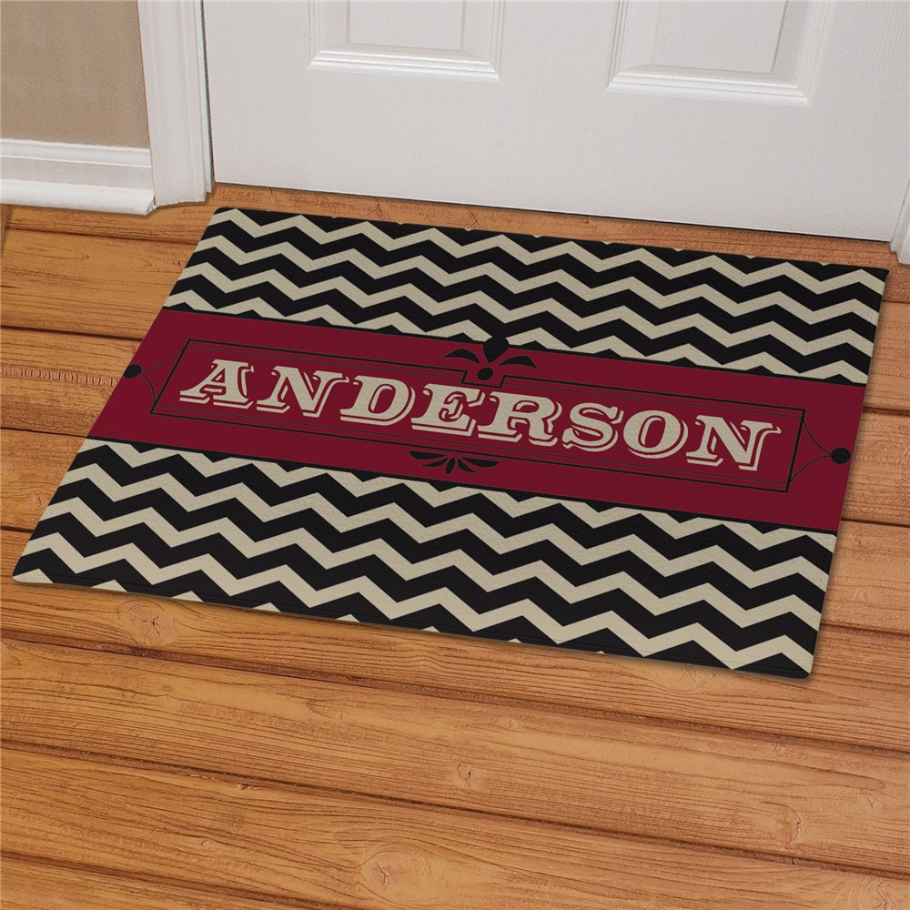 Personalized Chevron Welcome Doormat | Gifts For The Home