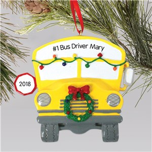 Bus Driver Ornament | Personalized Bus Driver Ornament