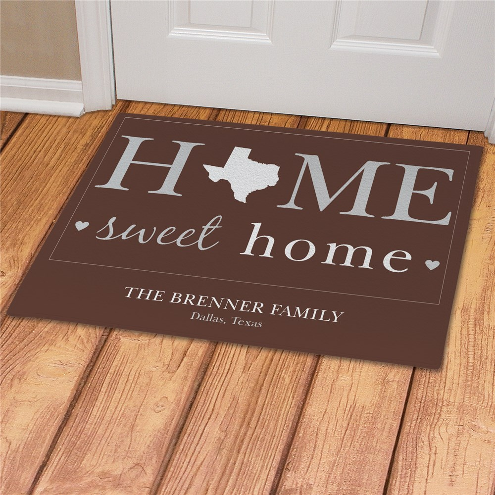 Personalized Home Sweet Home Welcome Doormat | Gifts for the Home