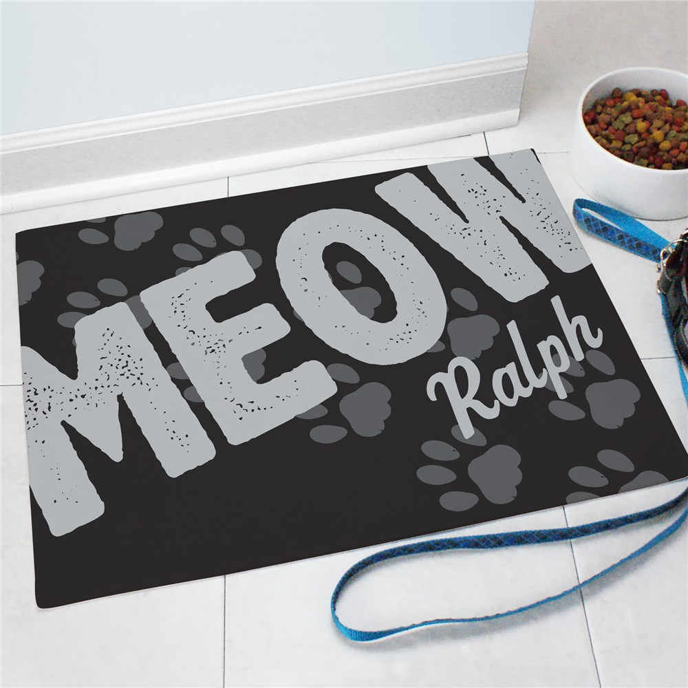 Personalized Pet Food Mat | Personalized Doormats
