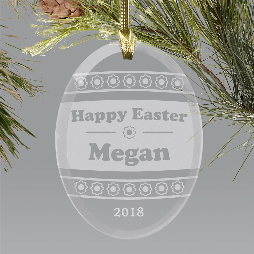 Engraved Easter Egg Suncatcher| Personalized Spring Gifts