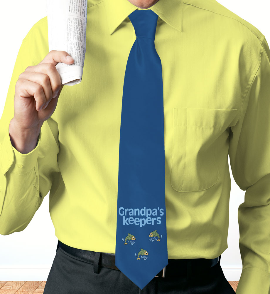 Personalized Keepers Neck Tie | Personalized Dad Gifts