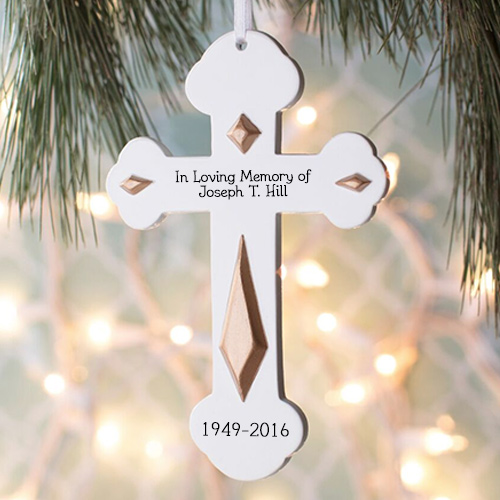 In Loving Memory Cross Ornament | Memorial Christmas Ornaments