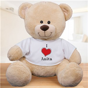 Personalized I Love Teddy Bear 836129BX