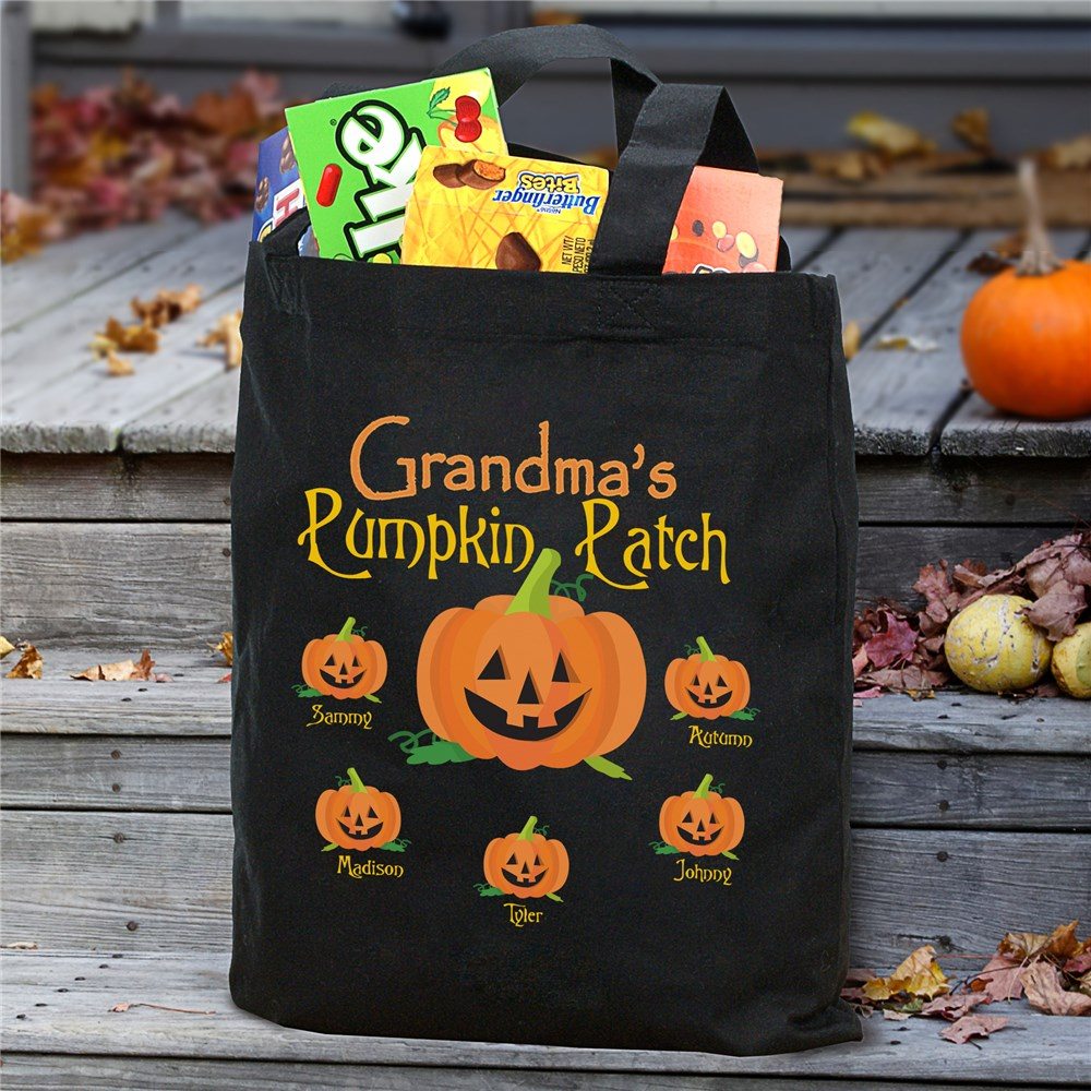 Pumpkin Patch Personalized Halloween Tote Bag | Personalized Halloween Bags