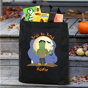 Halloween Icon Personalized Trick or Treat Bag | Personalized Halloween Bags