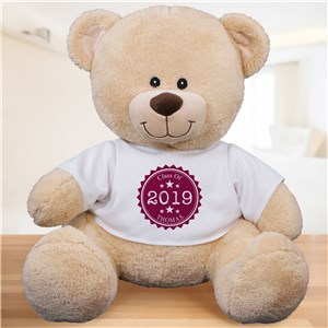 Personalized Class Of Stamp Teddy Bear | Personalized Graduation Bear
