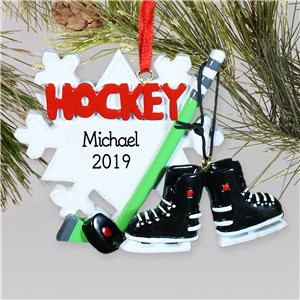 Personalized Hockey Ornament | Personalized Hockey Skate Ornament for Kids