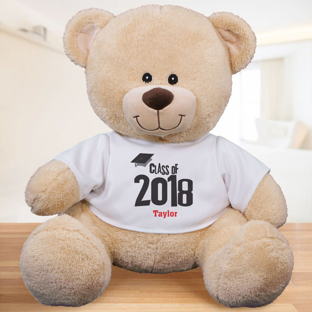 Personalized Class Of Graduation Teddy Bear | 2018 Grad Gifts