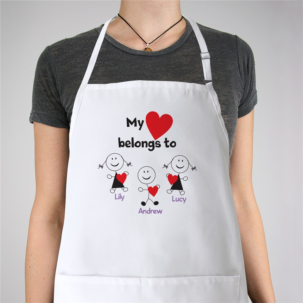 Personalized Belongs To Heart Apron | Personalized Gifts For Grandma