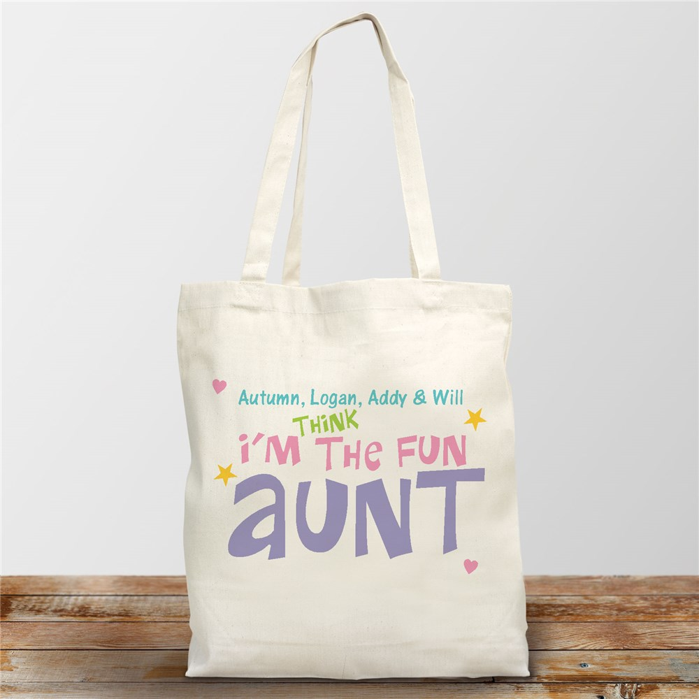 Personalized Fun Aunt Canvas Tote Bag 838442