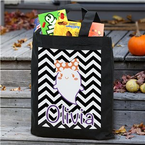 Personalized Trick or Treat Tote Bag | Personalized Trick-Or-Treat Bags