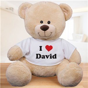 Personalized I Love You Teddy Bear | Valentine Day Teddy Bears